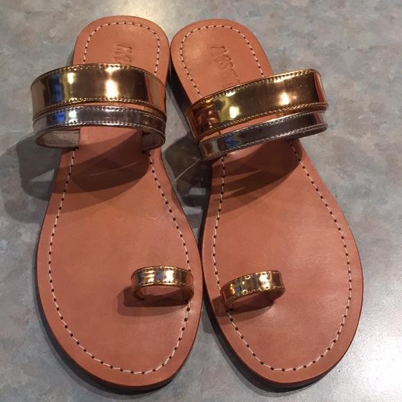 Mystique gold silver tone sandals
